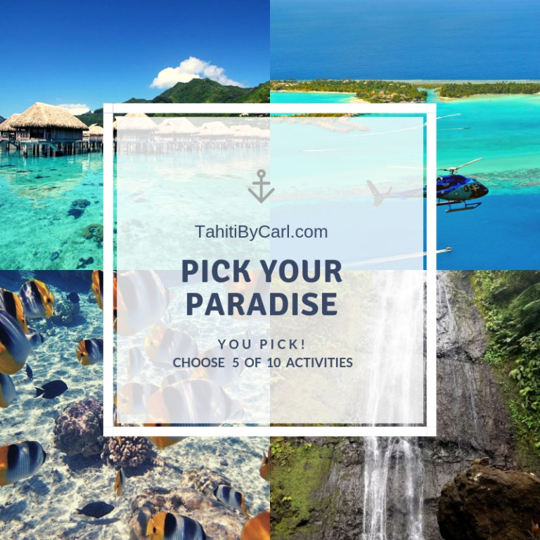Pick your Paradise Promotion – Choose 5 of 10 Tours