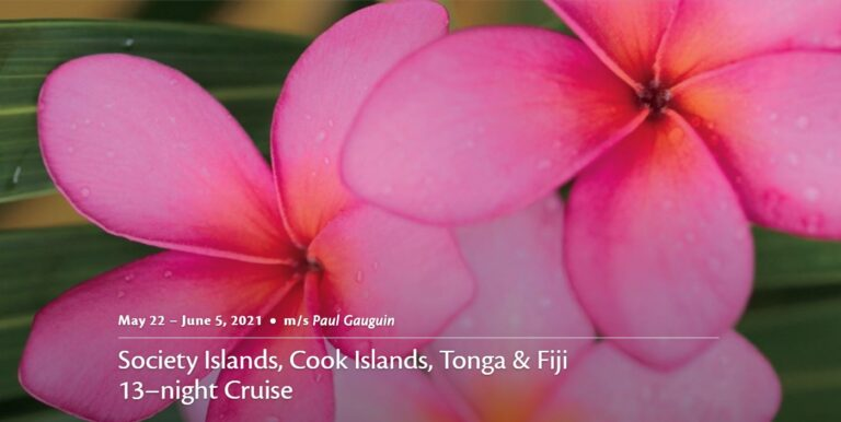 Society Islands, Cook Islands, Tonga and Fiji aboard Paul Gauguin Cruises